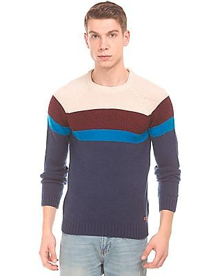 Aeropostale Long Sleeve Colour-Block Sweater