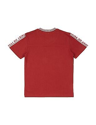 Cherokee Boys Mesh Panel Printed T-Shirt
