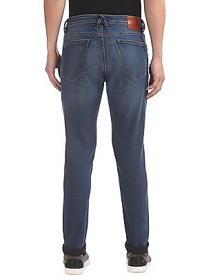 Arrow Sports Relaxed Fit Washed Jeans