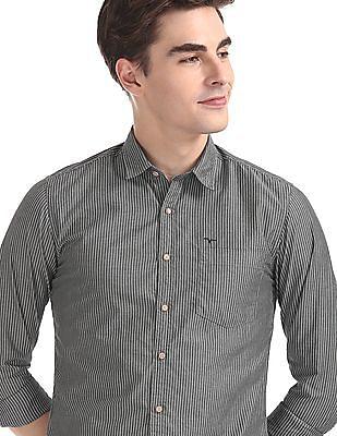 Flying Machine Regular Fit Striped Shirt