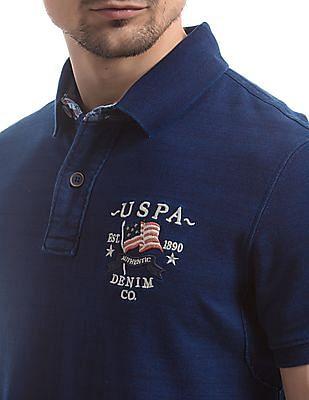 U.S. Polo Assn. Denim Co. Solid Slim Fit Polo Shirt