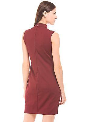 U.S. Polo Assn. Women High Neck Sheath Dress