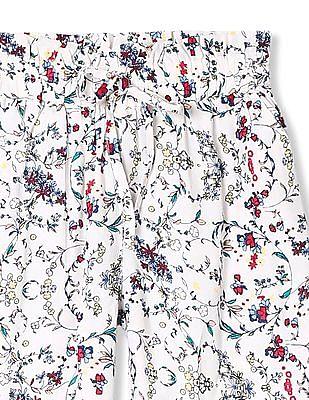 Cherokee Girls Floral Print Woven Pants
