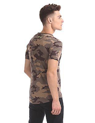 Ed Hardy Slim Fit Camo Print T-Shirt