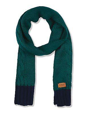 U.S. Polo Assn. Kids Boys Cable Knit Scarf