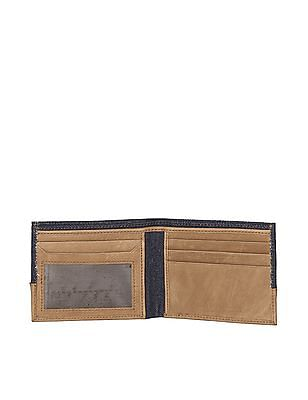 Flying Machine Blue Colour Block Bi-Fold Wallet