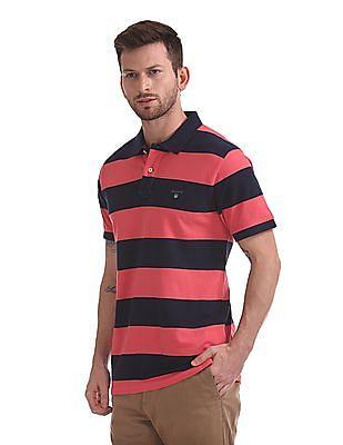 Gant Bar Stripe Pique Rugger Polo Shirt