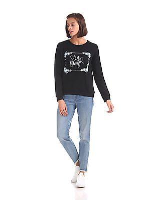 Cherokee Crew Neck Printed Sweatshirt