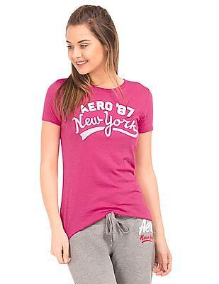 Aeropostale Brand Applique Regular Fit T-Shirt