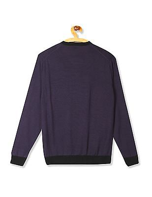 Arrow Newyork Slim Fit Patterned Front Sweater