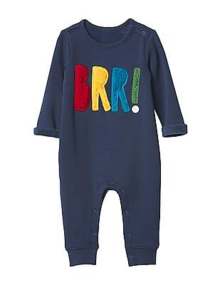 GAP Baby Cozy Festive Graphic One Piece