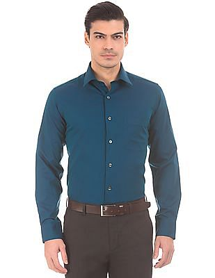 Arrow French Placket Two Tone Shirt