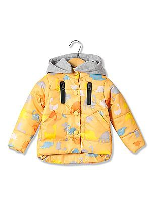 Donuts Boys Hooded Puffer Jacket