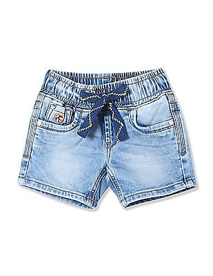 U.S. Polo Assn. Kids Boys Elasticized Waist Denim Shorts