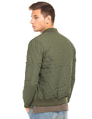 U.S. Polo Assn. Solid Quilted Bomber Jacket