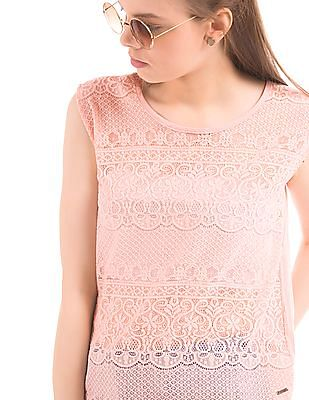 Elle Lace Front Sleeveless Top