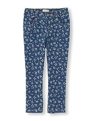 The Children's Place Toddler Girl Floral Print Denim Jeggings