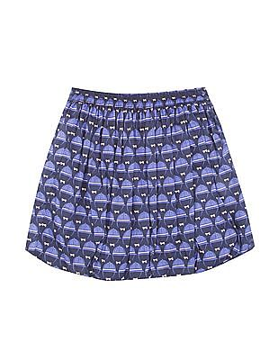 U.S. Polo Assn. Kids Girls Printed Balloon Skirt