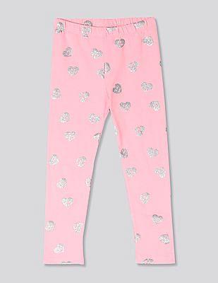 GAP Pink Toddler Girl Print Leggings In Stretch Jersey