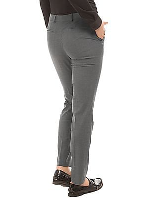 Arrow Woman Patterned Straight Fit Trousers