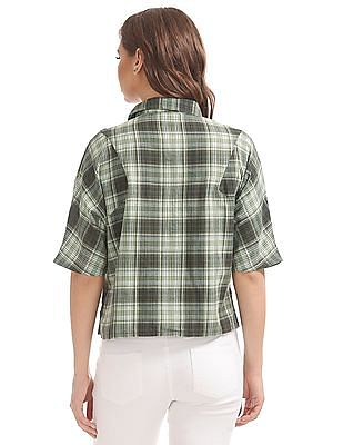 SUGR Boxy Check Top
