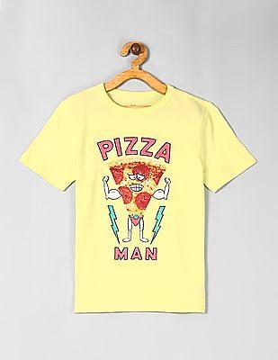 GAP Neon Yellow Boys Graphic Short Sleeve T-Shirt