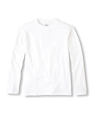The Children's Place Boys Long Sleeve Solid T-Shirt