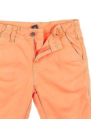 Cherokee Boys Solid Cotton Twill Shorts