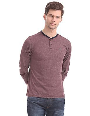 Ruggers Red Heathered Henley T-Shirt