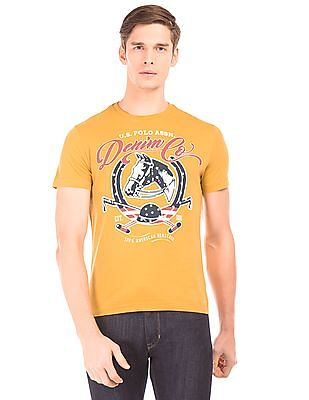 U.S. Polo Assn. Denim Co. Graphic Print Muscle Fit T-Shirt