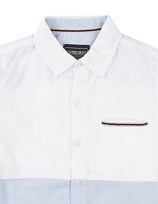 Cherokee Boys Colour Block Oxford Shirt