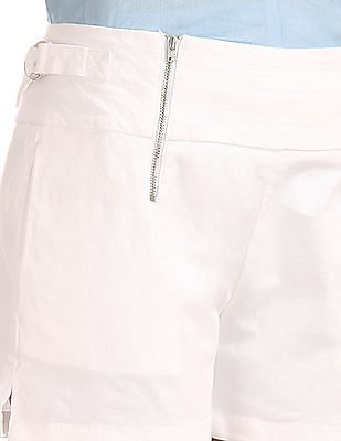 Elle Slim Fit Zip Up Shorts