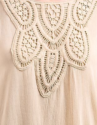 Cherokee Crochet Overlay Kaftan Top