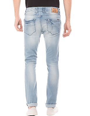 Flying Machine Lightly Distressed Skinny Fit Jeans