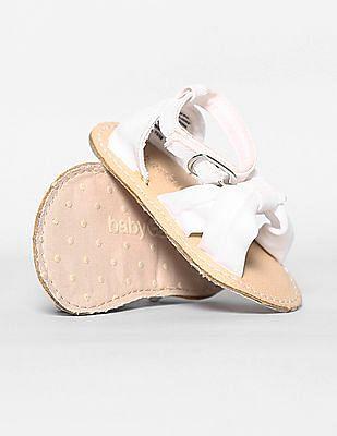 GAP Baby White Cross Strap Sandals