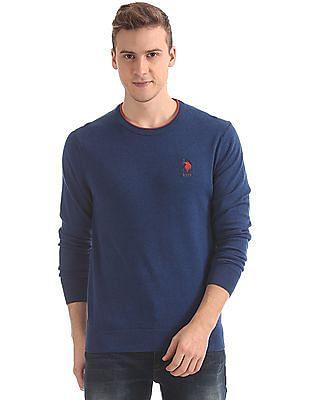 U.S. Polo Assn. Regular Fit Solid Sweater