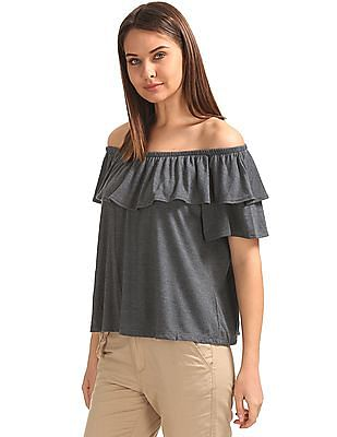 SUGR Solid Off Shoulder Top