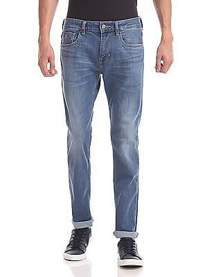 U.S. Polo Assn. Denim Co. Brandon Slim Tapered Fit Stone Wash Jeans