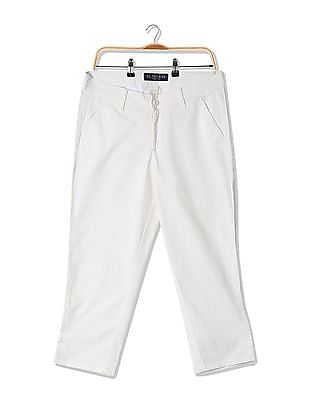 U.S. Polo Assn. Women Flat Front Capri Trousers