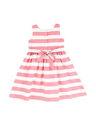Cherokee Girls Striped Fit And Flare Dress