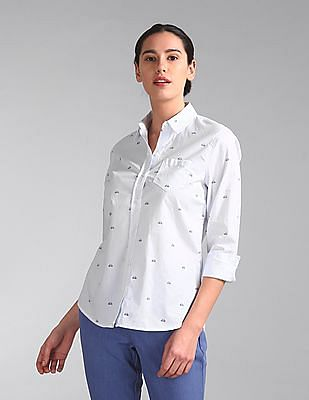 GAP Long Sleeve Printed Shirt