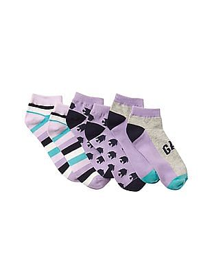 GAP Girls Happy Pom Pom Socks - Pack Of 3