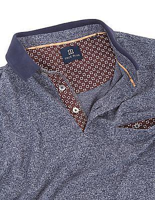 True Blue Melange Regular Fit Polo Shirt