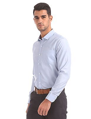 Excalibur Spread Collar Patterned Shirt