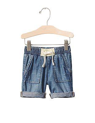GAP Baby Blue 1969 Pull-On Denim Shorts