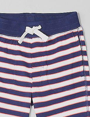 GAP Toddler Boy Striped Cotton Shorts