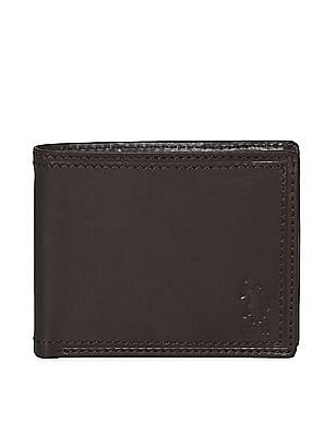 U.S. Polo Assn. Brown Bi-Fold Leather Wallet