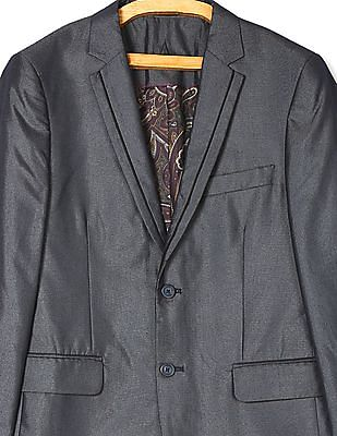 Arrow Notch Lapel Collar Single Breasted Suit