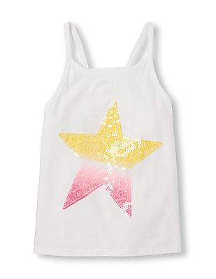 The Children's Place Girls Strappy Graphic Top