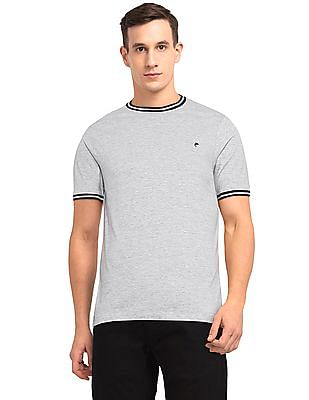 Ruggers Grey Round Neck Tipped T-Shirt